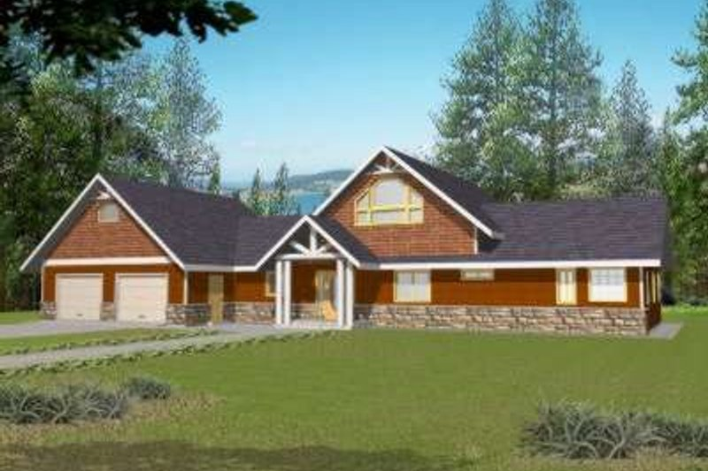 Architectural House Design - Traditional Exterior - Front Elevation Plan #117-462