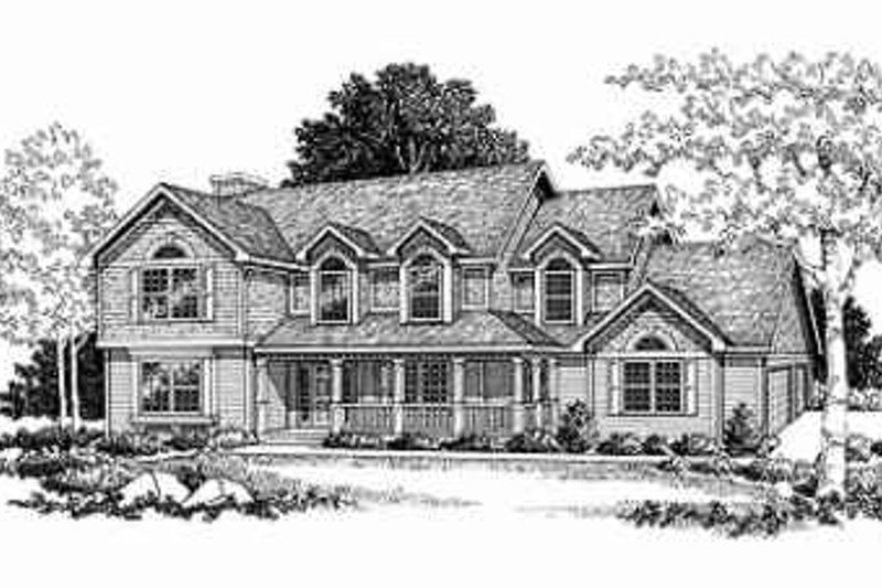 Traditional Exterior - Front Elevation Plan #70-347