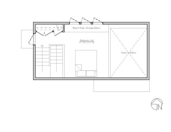 Modern Floor Plan - Upper Floor Plan Plan #914-1