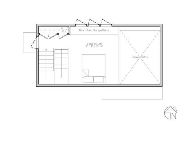 Modern Floor Plan - Upper Floor Plan Plan #914-1