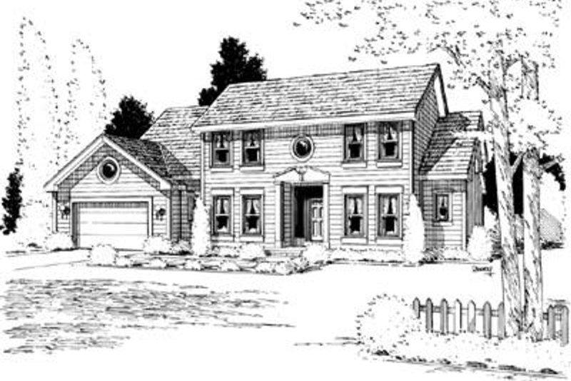 Colonial Exterior - Front Elevation Plan #20-963 - Houseplans.com