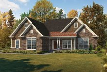 Ranch Exterior - Front Elevation Plan #57-663