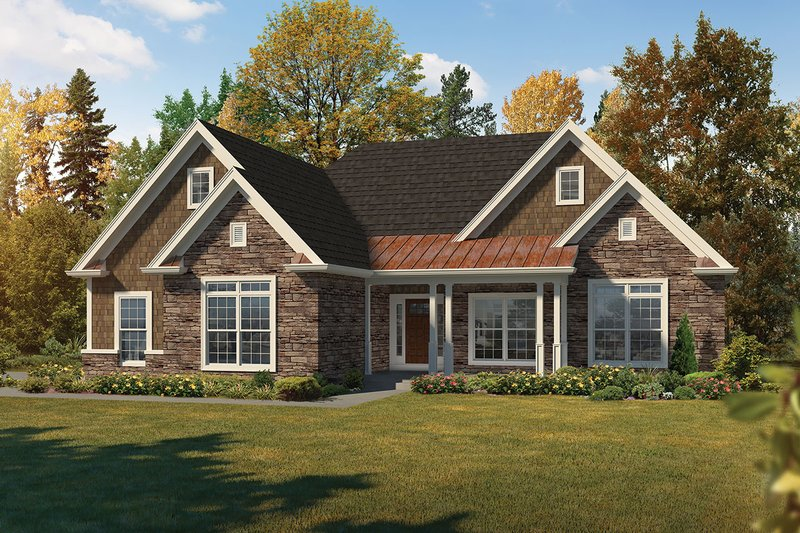 Dream House Plan - Ranch Exterior - Front Elevation Plan #57-663