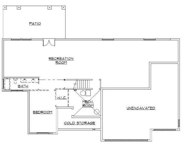 Traditional Floor Plan - Lower Floor Plan Plan #5-263