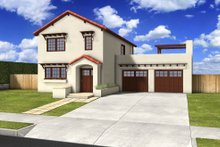 Traditional Exterior - Front Elevation Plan #497-38