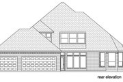 Traditional Style House Plan - 4 Beds 3 Baths 3544 Sq/Ft Plan #84-622 Exterior - Rear Elevation