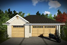 House Plan Design - Traditional Exterior - Front Elevation Plan #70-1450