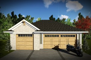 House Blueprint - Traditional Exterior - Front Elevation Plan #70-1450
