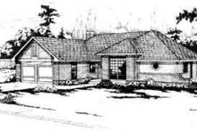 Home Plan - Traditional Exterior - Front Elevation Plan #124-137