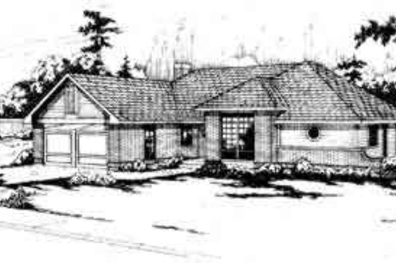Traditional Exterior - Front Elevation Plan #124-137 - Houseplans.com