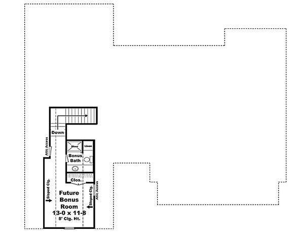 Craftsman Floor Plan - Upper Floor Plan Plan #21-294