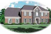 Colonial Style House Plan - 4 Beds 3.5 Baths 2670 Sq/Ft Plan #81-484 Exterior - Front Elevation