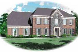 Colonial Exterior - Front Elevation Plan #81-484