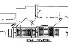 Traditional Exterior - Rear Elevation Plan #40-150