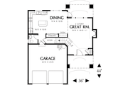 Traditional Style House Plan - 3 Beds 2.5 Baths 1500 Sq/Ft Plan #48-113 Floor Plan - Main Floor Plan