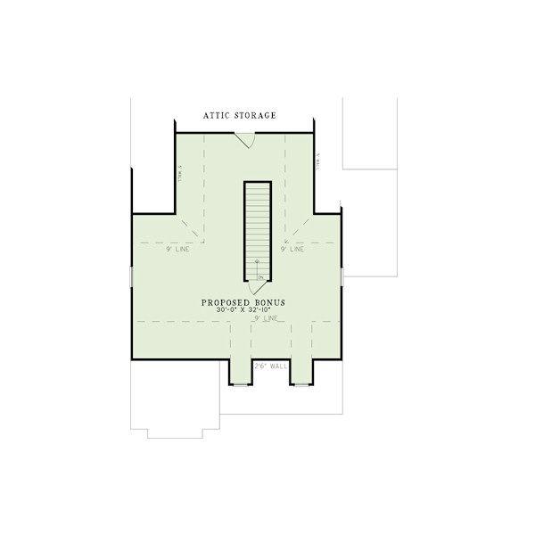 Craftsman Floor Plan - Other Floor Plan Plan #17-2411