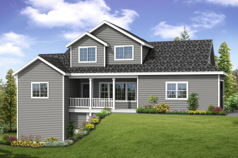 Home Plan - Country Exterior - Front Elevation Plan #124-1060