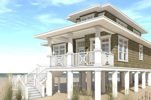 Beach Exterior - Front Elevation Plan #64-227