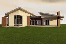 House Plan Design - Contemporary Exterior - Outdoor Living Plan #80-220