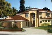 Mediterranean Style House Plan - 5 Beds 4 Baths 3497 Sq/Ft Plan #420-233