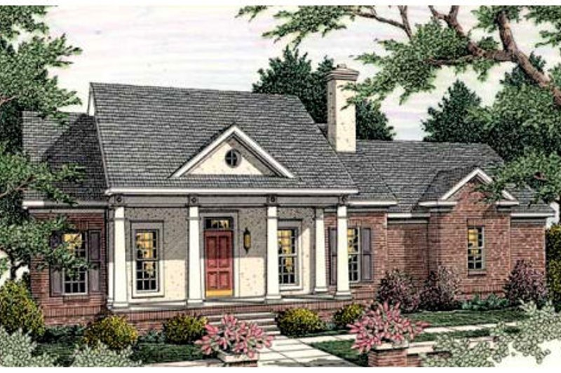 Southern Exterior - Front Elevation Plan #406-278