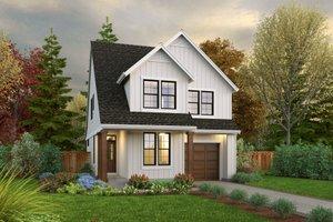 Cottage Exterior - Front Elevation Plan #48-1043