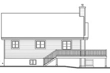 House Plan Design - Country Exterior - Rear Elevation Plan #23-2685