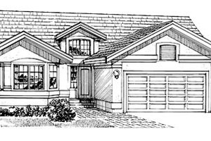 Mediterranean Exterior - Front Elevation Plan #47-206