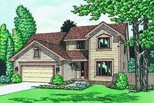 Dream House Plan - Traditional Exterior - Front Elevation Plan #20-651