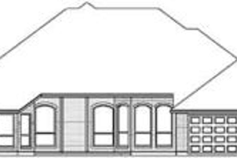 Traditional Exterior - Rear Elevation Plan #84-183 - Houseplans.com