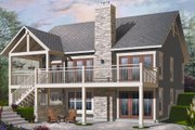 Bungalow Style House Plan - 2 Beds 1 Baths 1324 Sq/Ft Plan #23-2262 Exterior - Rear Elevation