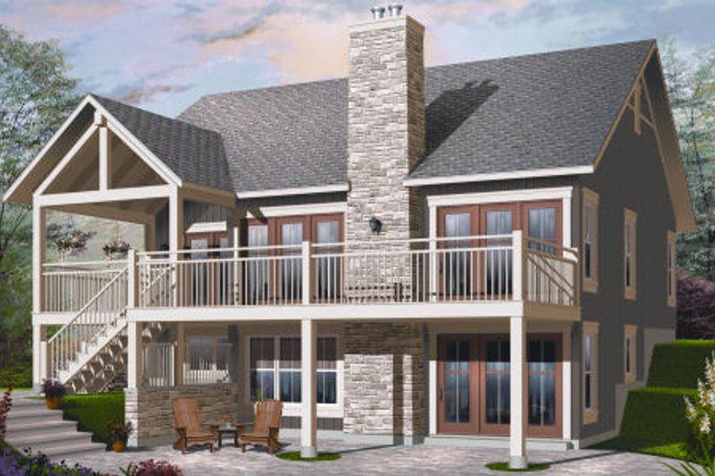 Bungalow Exterior - Rear Elevation Plan #23-2262 - Houseplans.com
