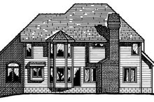 Dream House Plan - Traditional Exterior - Rear Elevation Plan #20-1049