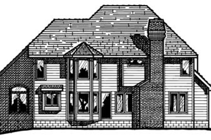 Traditional Exterior - Rear Elevation Plan #20-1049 - Houseplans.com