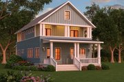 Craftsman Style House Plan - 3 Beds 3 Baths 2830 Sq/Ft Plan #888-12 Exterior - Front Elevation