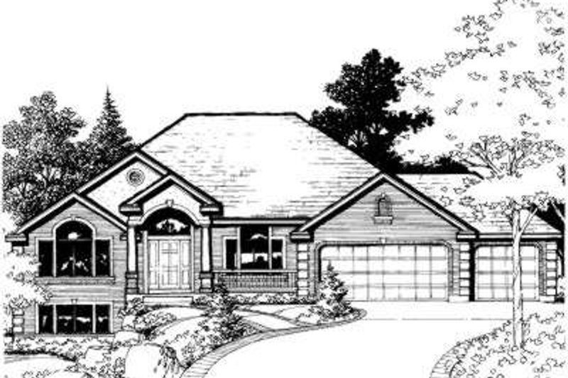 Traditional Style House Plan - 3 Beds 2.5 Baths 4055 Sq/Ft Plan #308-107 Exterior - Front Elevation