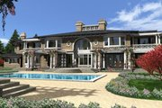Traditional Style House Plan - 4 Beds 7 Baths 9820 Sq/Ft Plan #132-217 Exterior - Rear Elevation