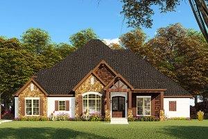 Craftsman Exterior - Front Elevation Plan #923-148