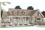 Country Style House Plan - 3 Beds 2 Baths 1838 Sq/Ft Plan #20-160 Exterior - Front Elevation