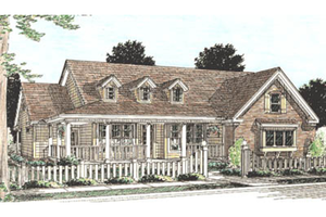 Country Exterior - Front Elevation Plan #20-160