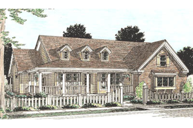 Architectural House Design - Country Exterior - Front Elevation Plan #20-160