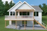 Craftsman Style House Plan - 3 Beds 2.5 Baths 2734 Sq/Ft Plan #1070-99 Exterior - Rear Elevation