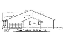 Dream House Plan - Right Side Elevation