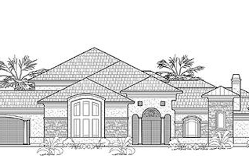 Traditional Exterior - Front Elevation Plan #61-295 - Houseplans.com