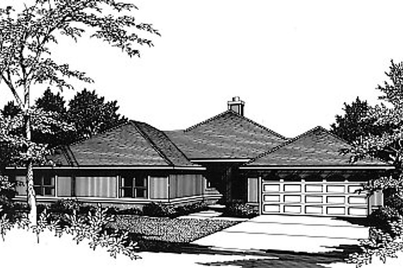 Architectural House Design - Traditional Exterior - Front Elevation Plan #14-120