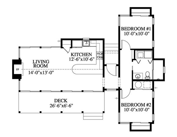 Contemporary Floor Plan - Main Floor Plan Plan #426-16