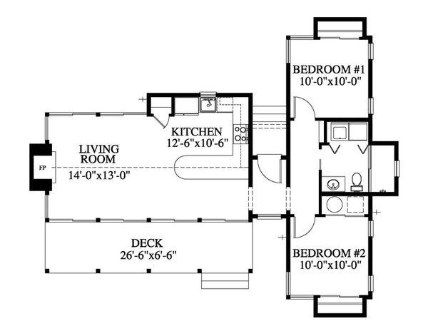 Contemporary Floor Plan - Main Floor Plan #426-16