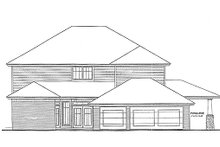 Colonial Exterior - Rear Elevation Plan #310-704