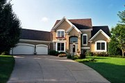 European Style House Plan - 3 Beds 2.5 Baths 2402 Sq/Ft Plan #51-111 Exterior - Front Elevation