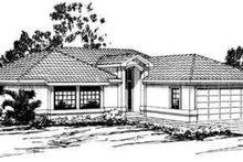 Dream House Plan - Mediterranean Exterior - Front Elevation Plan #124-232